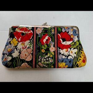 Vera Bradley double snap wallet